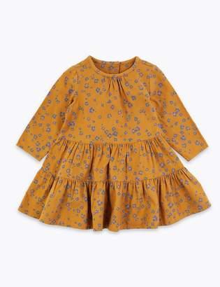 Marks and Spencer Cotton Flower & Leopard Print Dress