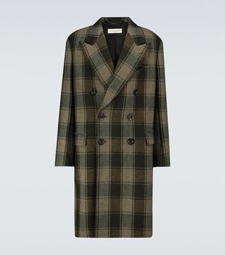 Dries Van Noten Double-breasted wool checked coat