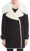 Burberry Norhurst Suede Coat with Genuine Shearling Trim