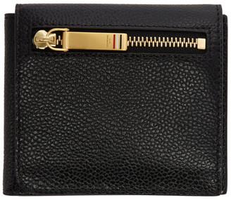 Thom Browne Black Billfold Flap Wallet