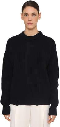 Nina Ricci Crewneck Wool Knit Sweater