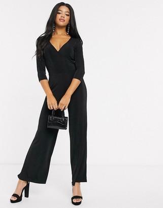 Pimkie wrap jumpsuit in black