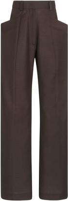 Eftychia Wool-Blend Wide-Leg Trousers
