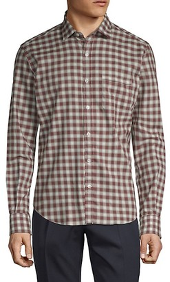 Culturata Vintage Checkered Cotton Twill Dress Shirt