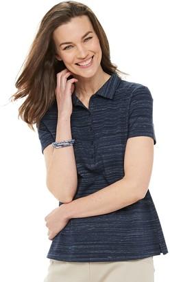 Croft & Barrow Women's Essential Classic Polo Shirt