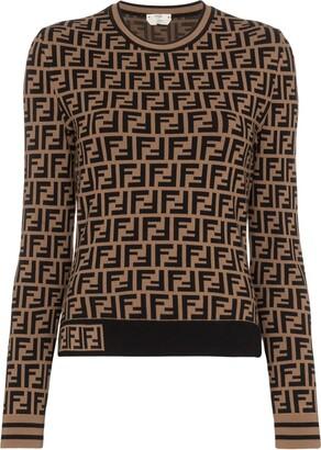 Fendi intarsia FF motif jumper