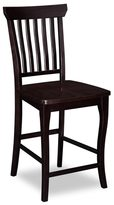 Atlantic Venetian Pub Chairs Set of 2 with Wood Seat in Espresso