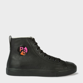 Paul Smith Men's Black Leather 'Allegra' Trainers With PS Logo