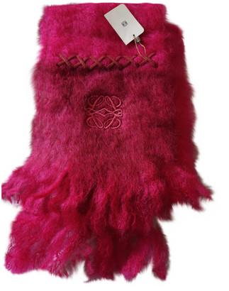 Loewe Pink Wool Scarves