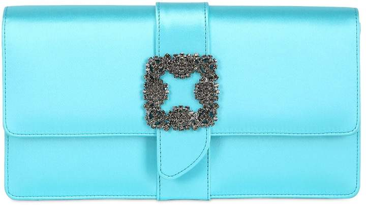 Manolo Blahnik Capri Silk Satin Clutch