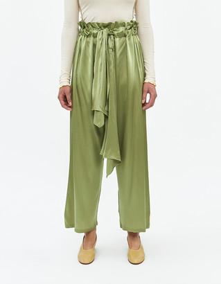 Base Range Women's Tenaili Silk Pant in Tao Green, Size Extra Small