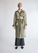 Stelen Women's Maria Cargo Trench Jacket in Olive, Size Small