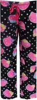 Hello Kitty Neon Faces Plush Lounge Pants for women
