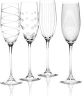 """Mikasa Clear Cheers"""" Flutes, Set Of 4"""