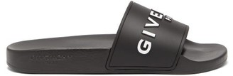 Givenchy Paris Logo-embossed Rubber Slides - Black
