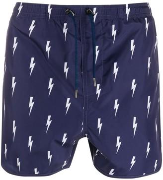 Neil Barrett all-over print swim shorts