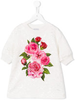 Dolce & Gabbana rose jacquard sweatshirt - kids - Viscose/Cotton - 6 yrs