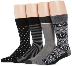Perry Ellis Men's 4-Pk. Reindeer Fair Isle Socks