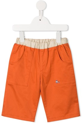 Familiar Contrast Waistband Shorts