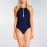 Lenny Niemeyer Essential Touch Ruched Halter Maillot