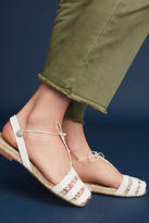 Anthropologie Ball Pages White Doble Calada Espadrilles