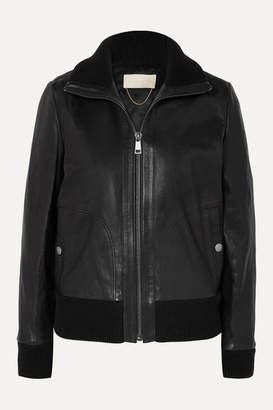 Vanessa Bruno Jorry Leather Bomber Jacket - Black