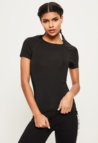 Missguided Active Black Fitted T-Shirt