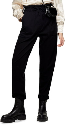 Topshop Marl Tapered Trousers