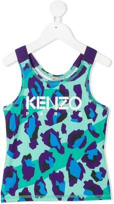 Kenzo Kids Leopard-Print Tank Top