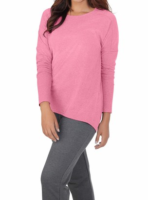 Fruit of the Loom Womens Essentials All Day Long Sleeve Scoop Neck T-Shirt