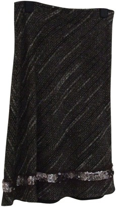 Max & Co. Anthracite Wool Skirt for Women