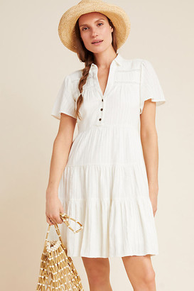 Anthropologie Georgina Tiered Shirtdress By in Assorted Size XS