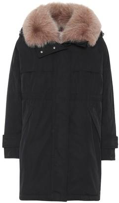 Moncler Lagopede fur-trimmed down coat