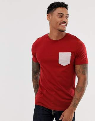 Jack and Jones Core pocket t-shirt-Red