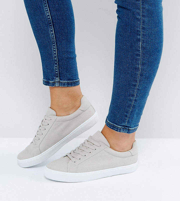 Asos Design DEVLIN Wide Fit Lace Up Trainers