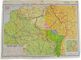 Rejuvenation Mid-Century Denoyer-Geppert Map Book of Northern France c1957
