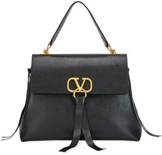 Valentino Garavani V Ring Medium Single-Handle Shoulder Bag