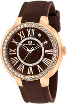 Oceanaut Womens Allure Faux Pearl Brown Strap Watch