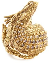 Delfina Delettrez Diamond 18k yellow gold crocodile ring