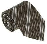 Missoni U4530 Brown/cream Regimental 100% Silk Tie.