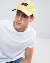 Abercrombie & Fitch Twill Cap Patch Logo In Yellow