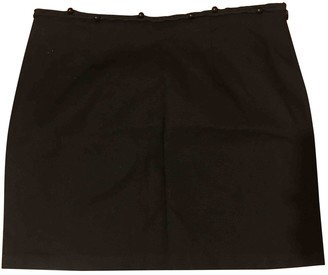 Bel Air Black Cotton Skirt for Women