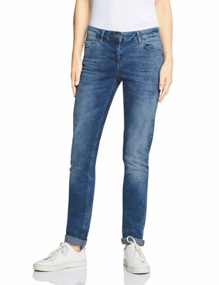 Cecil Women's 372462 Scarlett Loose Fit Straight Jeans
