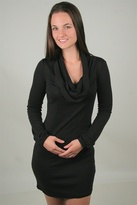linQ Cowl Neck Dress in Black