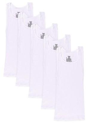 Hanes Boys Undershirt, 5 Pack Tagless EcoSmart White Tank Undershirts (Little Boys & Big Boys)