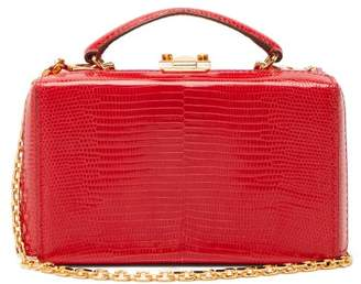Mark Cross Grace Lizard-skin Belt Bag - Womens - Red