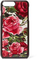 Dolce & Gabbana Floral-print Textured-leather Iphone 7 Plus Case - Pink