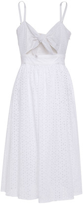 MICHAEL Michael Kors Knotted Cutout Broderie Anglaise Cotton Dress