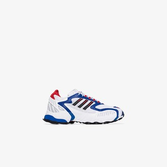 adidas white, blue and red Torsion TRDC sneakers