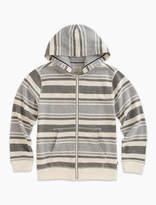 Lucky Brand Long Sleeve Stripe French Terry Full Zip Hoody